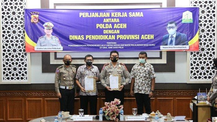 Dinas Pendidikan Aceh dan Polda Aceh Jalin Kerjasama Pengembangan Pendidikan Lalu Lintas