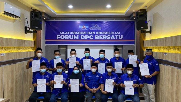 13 DPC Serah Dukungan untuk Muslim Sebagai Calon Ketua DPD Partai Demokrat Aceh