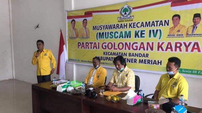 Golkar Bener Meriah Sukses Gelar Muscam IV, 10 Ketua PK Terpilih, Ini Nama-Namanya