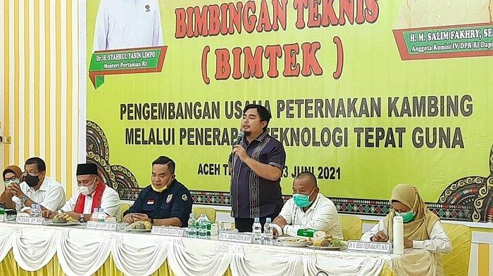 Ketua DPRK Agara Denny F Roza Buka Bimtek Pengembangan Usaha Ternak Kambing, Begini Harapannya
