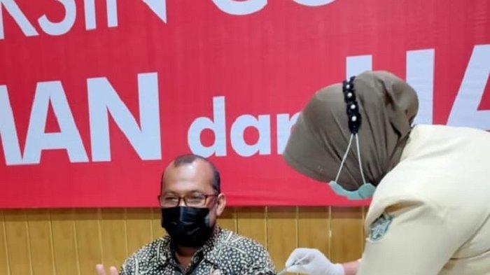 Ketua IDI Lhokseumawe Divaksin Tahap II: Saya Aman-aman Saja