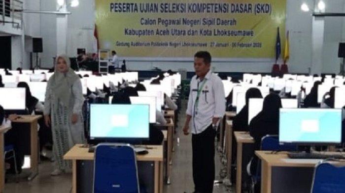 Hari Kedua Ujian CPNS di Lhokseumawe, Sudah 17 Peserta tak Hadir