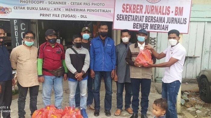 Sekber Jurnalis-BM Gelar Silaturahmi dan Bagikan Bingkisan