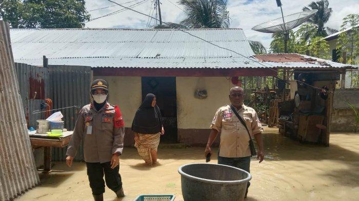 Banjir Genangan Rendam Sejumlah Rumah di Panggoi, BPBD Lhokseumawe Siagakan Tenda Darurat