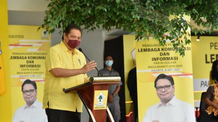 Airlangga Hartarto Lantik Pengurus LKI DPP Golkar, Sebagai Ujung Tombak Memenangkan Partai