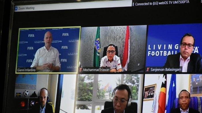 Rapat dengan Presiden FIFA, Ketua Umum PSSI Lapor Persiapan Piala Dunia U-20 dan Liga 1