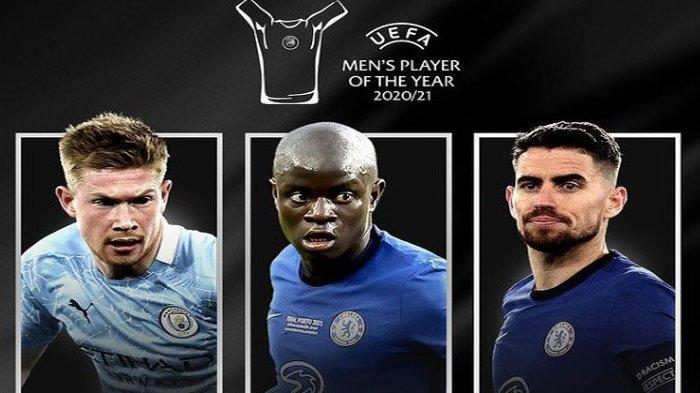 Kevin de Bruyne, N'Golo Kante, dan Jorginho Bersaing Jadi Pemain Terbaik UEFA, Siapa Pemenangnya?
