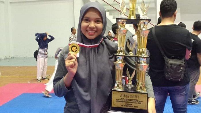 Atlet Muda STKIP BBG Ini Raih Medali Emas di Open Taekwondo Unsyiah Cup I