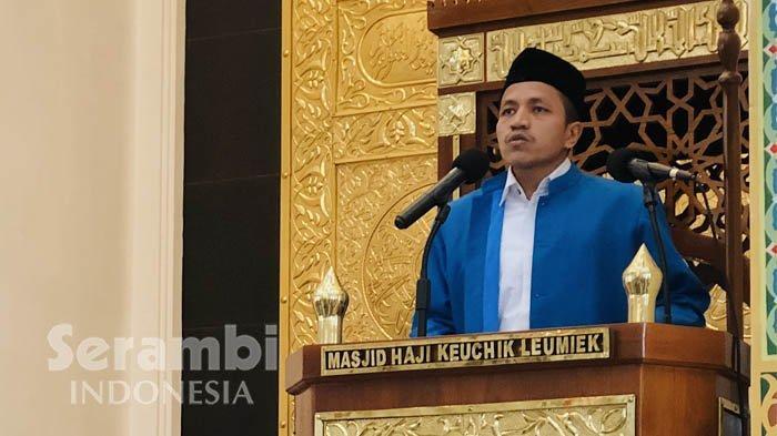Khutbah Jumat di Masjid Haji Keuchik Leumiek, Khatib: Kerjakan Kemungkaran Maka Balasannya Kejahatan