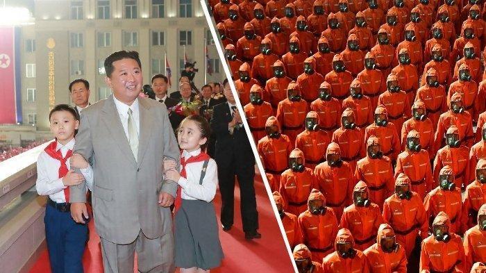 Untuk Pertama Kalinya, Korea Utara Gelar Parade Militer Tanpa Pegang Senjata, Sedang Krisis?