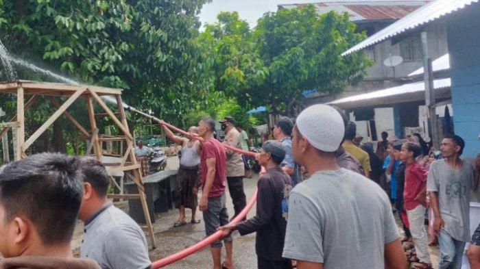 Lima Kios Milik BUMG Meunasah Kulam Pidie Jaya Terbakar, Ini Dugaan Penyebabnya