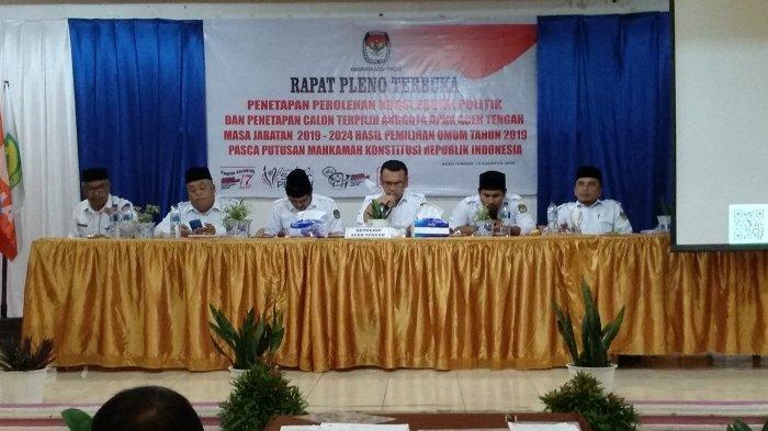 KIP Tetapkan 30 Calon Anggota DPRK Aceh Tengah Terpilih