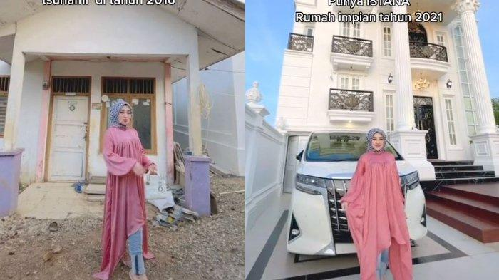 Shella Saukia, wanita asal Aceh ini berhasil membangun rumah impiannya bak 'istana' tepat di depan rumah bantuan tsunami yang pernah ia sewa.