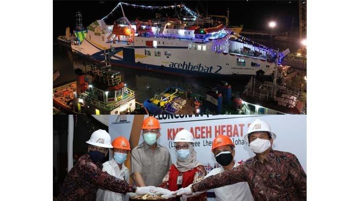 KMP 'Aceh Hebat 2' rute Sabang Dilepas ke Laut, Desember akan Berlayar ke Aceh