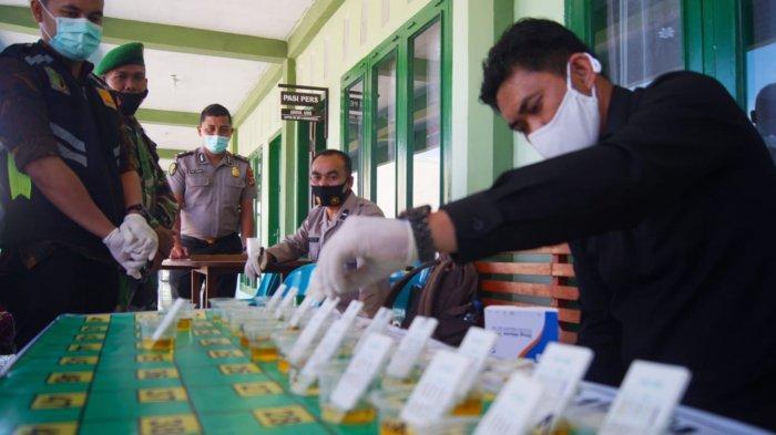 Lawan Narkoba, Kodim Bener Meriah Sosialisasi P4GN dan Cek Urine Prajurit