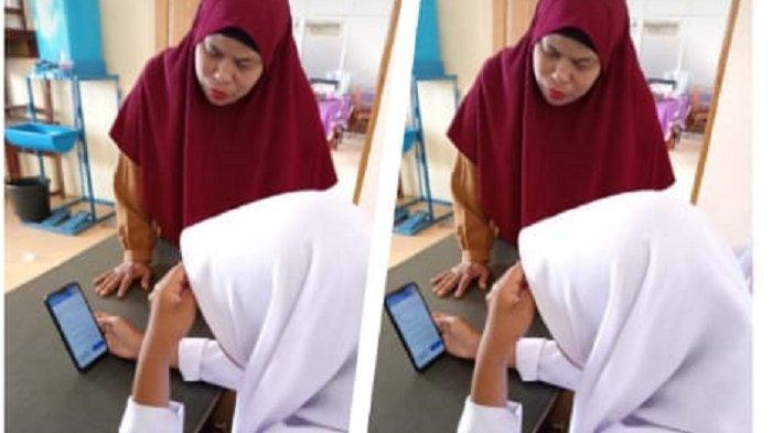 SMPN Teulaga Tujoh, Sekolah Pinggiran di Pulau Pusong Langsa, Pelajar Pakai Tab, Guru Pakai Infocus