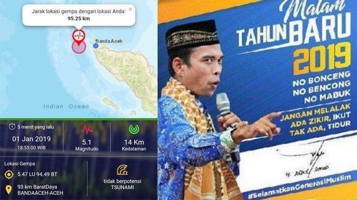 BERITA POPULER: Gempa Guncang Aceh Awal Tahun, Cerita UAS tentang Maksiat hingga Guru Kontrak Dayah