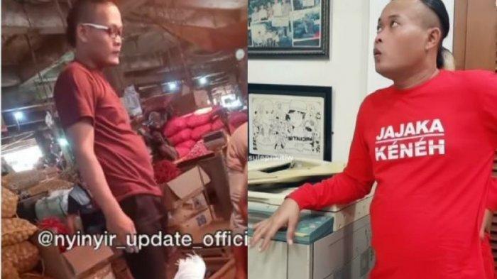 Viral Pria Mirip Sule Beraktivitas di Pasar, Gaya Rambutnya Juga Sama