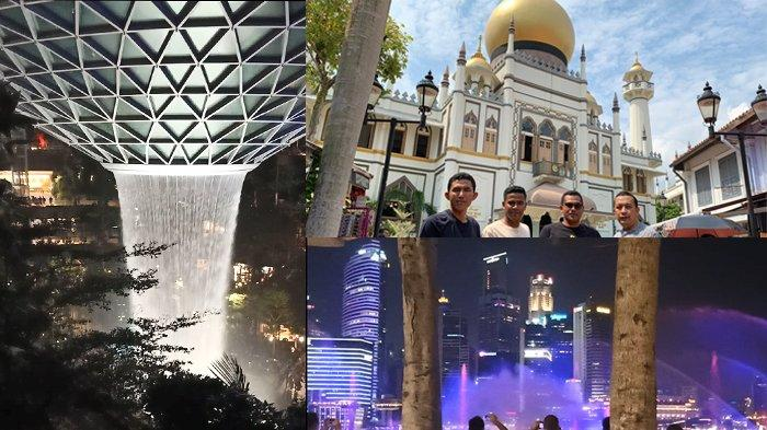 Jalan-jalan ke Singapura, dari Air Terjun Buatan di Bandara Changi, Spectra, Hingga Masjid Sultan