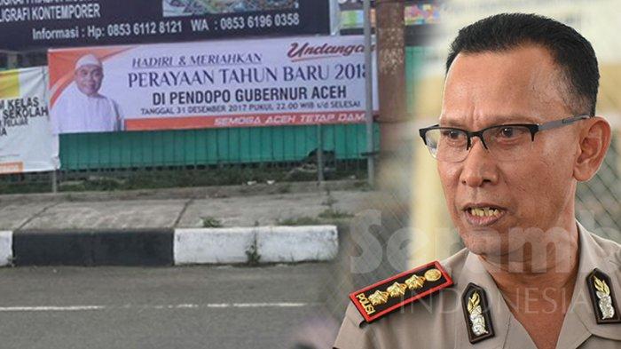 Polisi Lacak Pemasang Spanduk