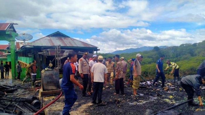 Ponpes Darussa'adah di Bener Meriah Terbakar, Tiga Bangunan Rata dengan Tanah