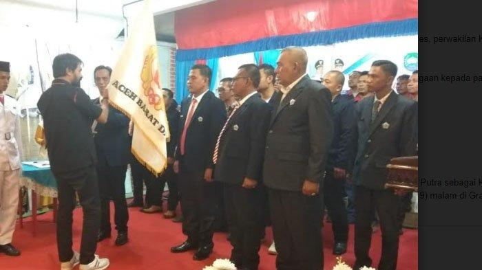 Saat Lantik Pengurus KONI Abdya, Mualem Nyatakan Maju Jadi Calon Gubernur Aceh 2022-2027