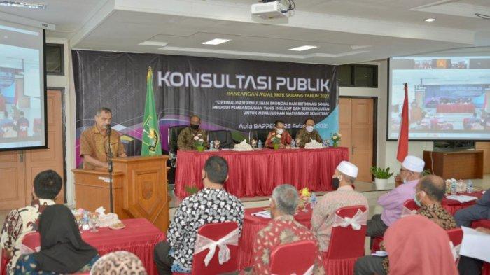 Bappeda Kota Sabang Gelar Rapat Konsultasi Publik Rancangan Awal RKPK Sabang 2022
