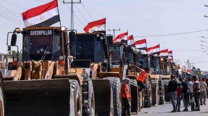 Mesir Kirim Peralatan dan Bahan Bangunan ke Jalur Gaza, Rekonstruksi Segera Dimulai