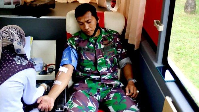 Personel Koramil 21/Blangbintang Donor Darah, Ini Penekanan Danramil Kapten Hamka