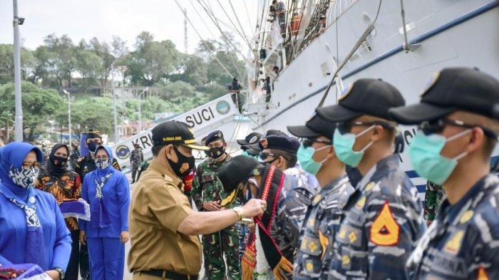 KRI Bima Suci Berkunjung ke Kota Sabang, Latihan Untuk Taruna Sebelum Lulus Jadi Perwira TNI AL