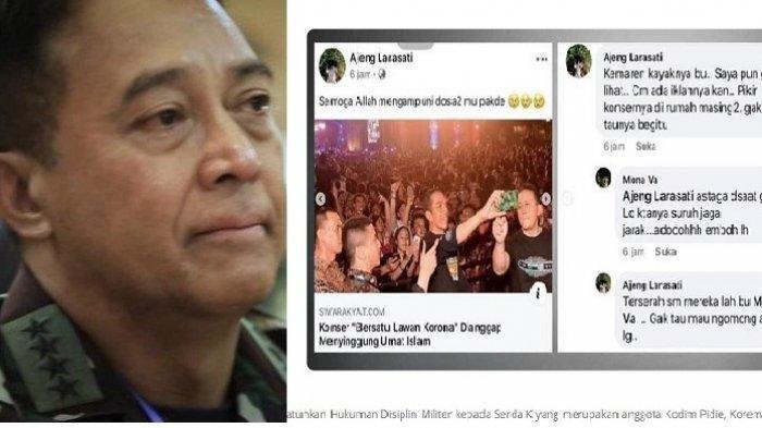 Lagi, Istri Prajurit TNI AD Sindir Konser BPIP, KSAD Andika Perkasa Hukum Suaminya Ditahan 14 Hari
