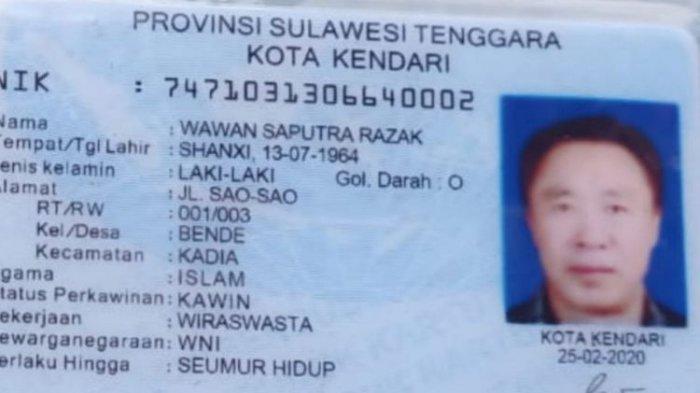 WNA Asal China di Sulawesi Tenggara Dilaporkan ke Polisi, Mister Wang Diduga Miliki KTP Palsu