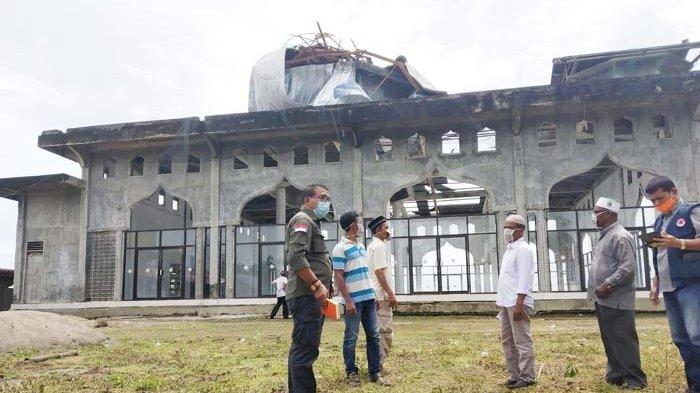 Kubah Masjid Baitul Amal Rusak Parah, Kas Kosong Warga Harapkan Bantuan