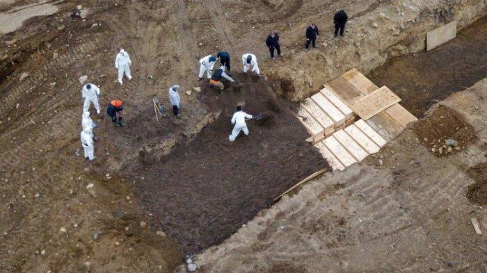 VIDEO New York Makamkan Jenazah Korban Corona di Kuburan Massal, Catatkan Kematian Terbanyak
