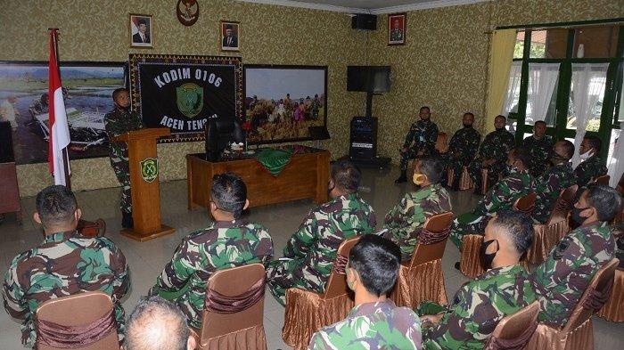 Kunjungan Perdana, Ini Pesan Pangdam IM bagi Prajurit Kodim 0106 Aceh Tengah dan Yonif 114 SM