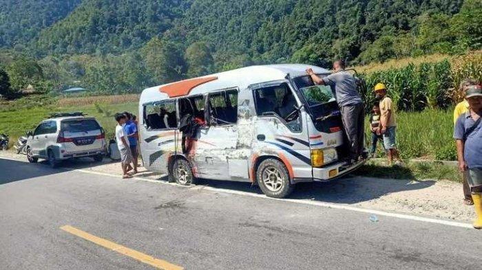 Kecelakaan Tragis Renggut Nyawa Nenek dan Wanita Muda Penumpang Bus, Sopir Truk yang Menabrak Kabur