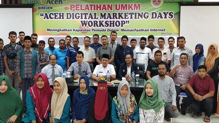 Kaum Milenial Bireuen Ikut Pelatihan UMKM Bank Aceh Syariah, Ini Tujuannya