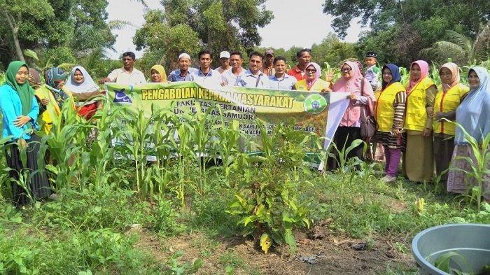 Dosen Pertanian Unsam Langsa Latih Warga Cara Membuat Pakan Ternak