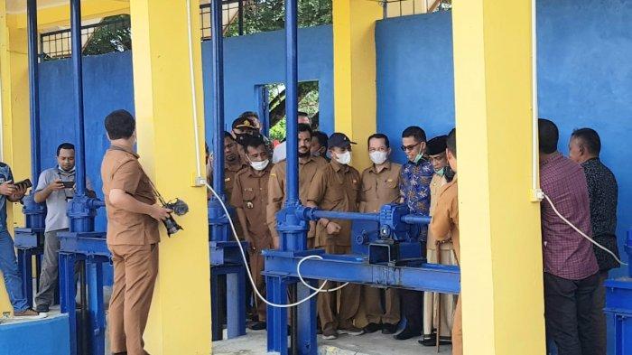 Wabup Aceh Besar Lepas Air Irigasi Krueng Aceh, Minta Distop Ilegal Logging di Hutan Seulawah