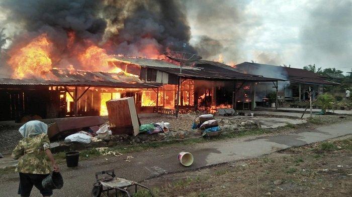 Lima Unit Rumah di Cinta Makmur, Aceh Tenggara Ludes Terbakar, Begini Kronologinya