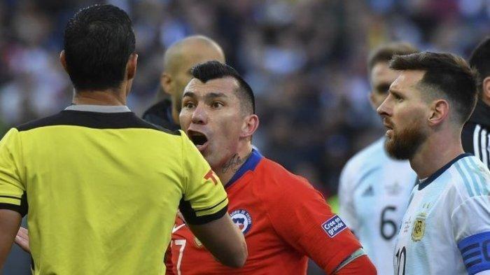 Argentina Kalahkan Cile, Messi Kartu Merah dan Tolak Ikut Penyerahan Medali Peringkat Tiga