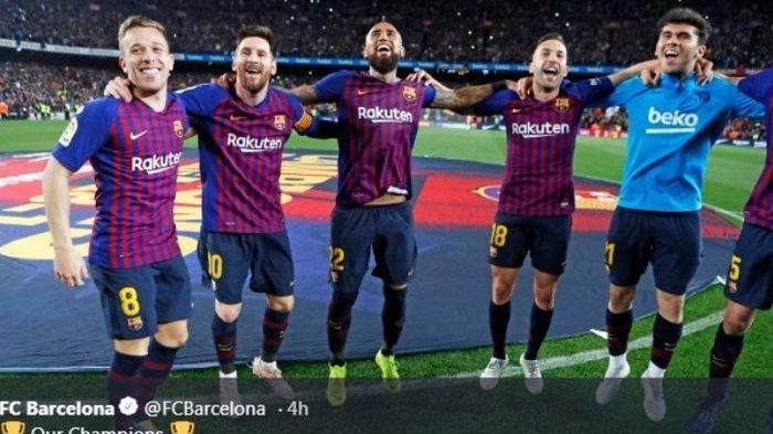 Messi Cetak Gol Tunggal ke Gawang Levante, Barcelona Juarai La Liga Musim 2018-2019