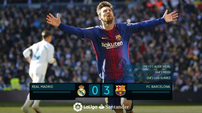 Hasil El Clasico - Messi Pimpin Barcelona Kubur Real Madrid di Bernabeu