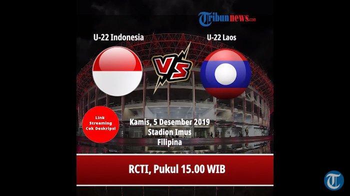 Live Streaming Indonesia vs Laos SEA Games 2019, Prediksi, H2H dan Live Jam 15.00 WIB