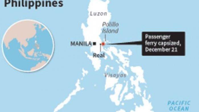 Cuaca Buruk, Kapal Feri Berpenumpang 251 Orang Terbalik di Perairan Filipina