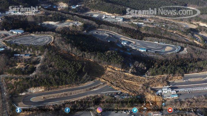 FOTO - Kondisi Terkini Fukushima Jepang, Setelah Diguncang Gempa Berkekuatan 7.1 Magnitudo - lokasi-longsor-usai-terjadinya-gempa.jpg