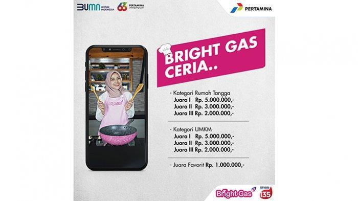 Pertamina Aceh Gelar Lomba Masak Virtual Bright Gas Ceria