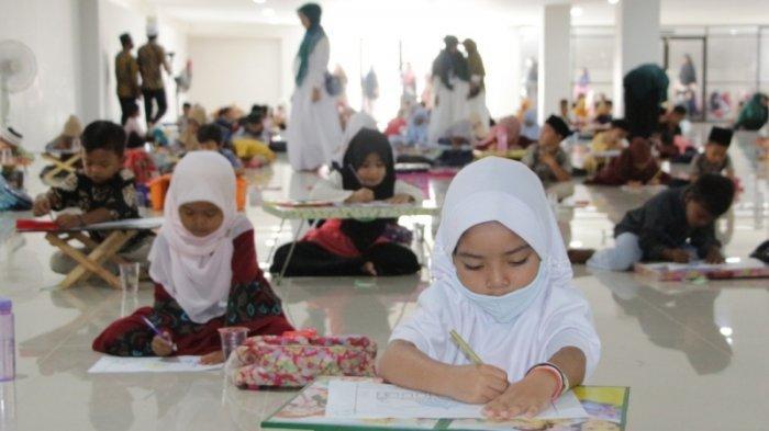 Lpi Islamic Center Pidie Jaya Mulai Kegiatan Belajar Mengajar Diawali Lomba Mewarnai Dan Menggambar Serambi Indonesia