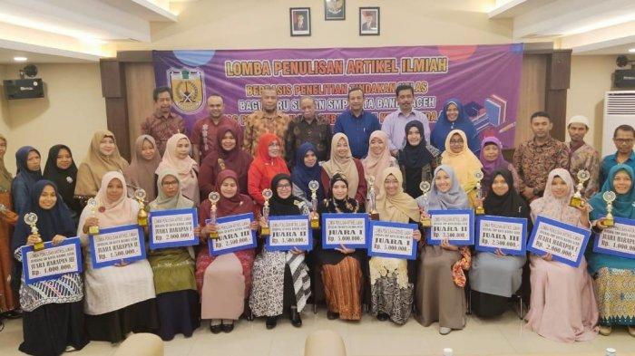 12 Guru Kota Banda Aceh Juarai Lomba Penulisan Artikel Jurnal, Siapa Saja Mereka?