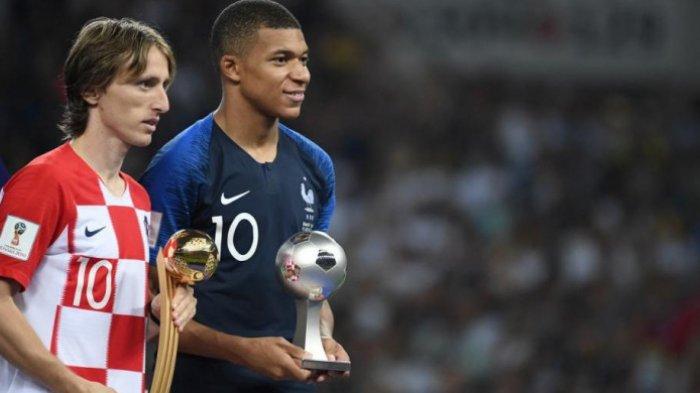 Distribusi Gelar dan Hadiah Piala Dunia 2018, Panggung Luka Modric dan Kylian Mbappe